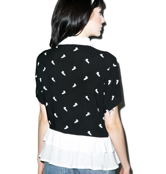 Lazy Oaf X Casper Frill Shirt