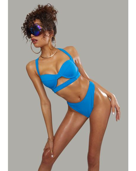 Sapphire Poolside Bliss Thong Bikini Set