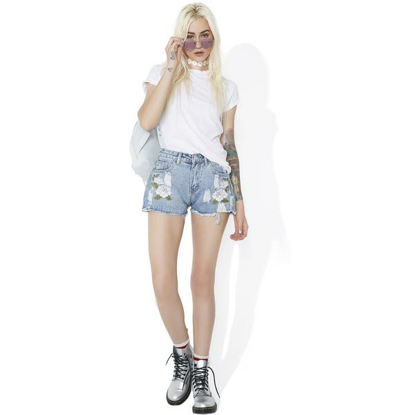 Gentle Love Distressed Shorts