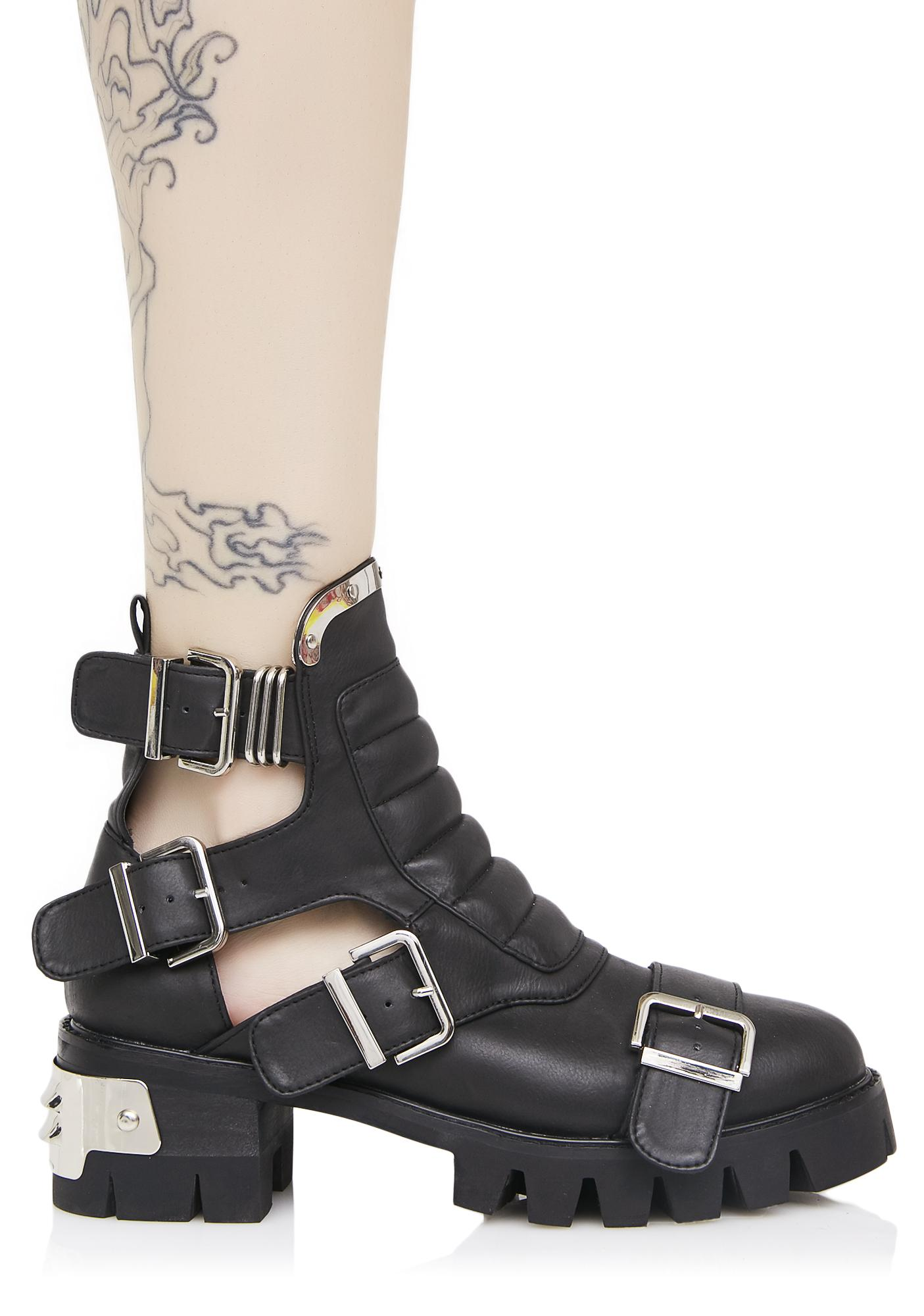 Current Mood Road Warrior Cut-Out Boots