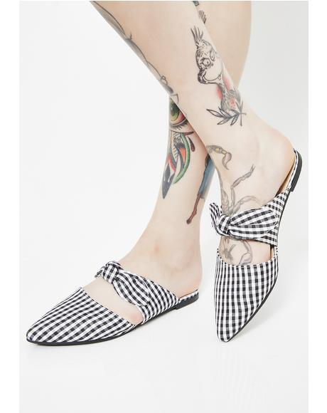 Don't Trip Gingham Flats