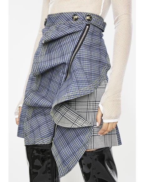 Style Maven Plaid Skirt