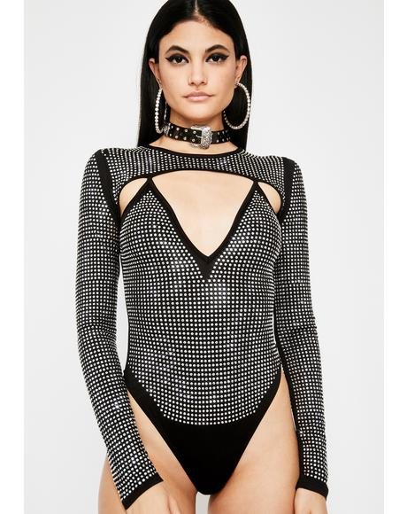 Crystalline Cyber Cut Out Bodysuit
