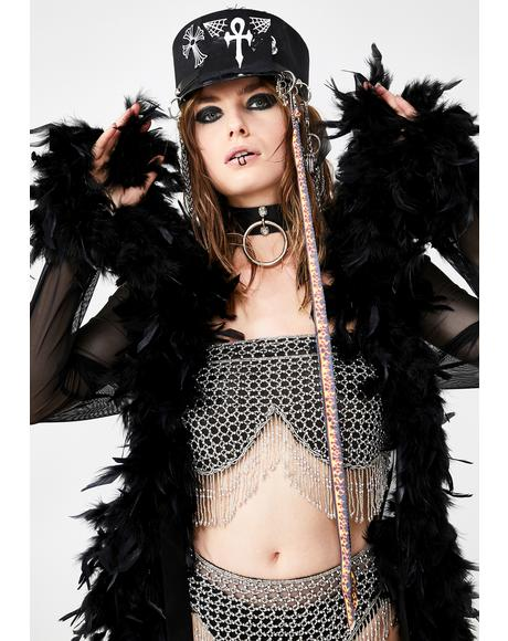 Dark No Presha Feather Robe