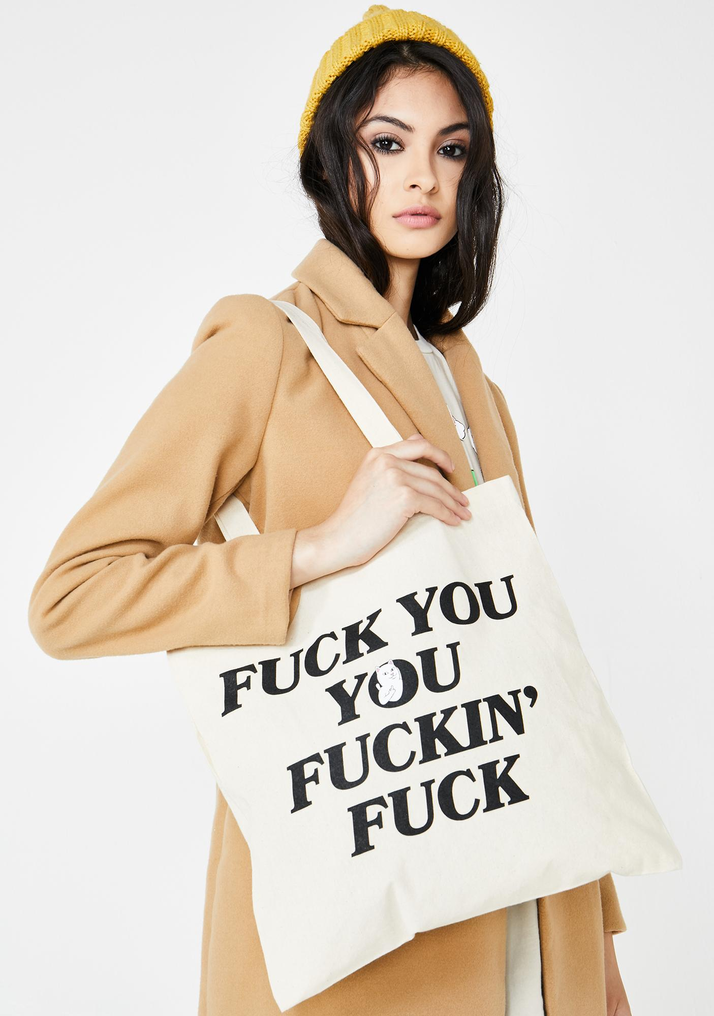 RIPNDIP Fucking Fuck Tote Bag