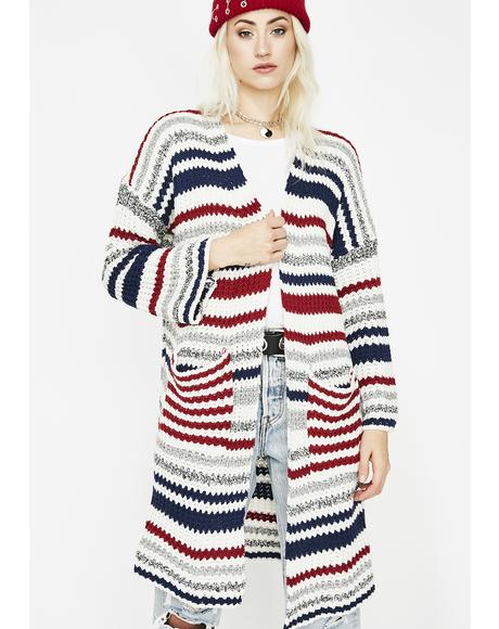 Higher Learning Striped Cardigan