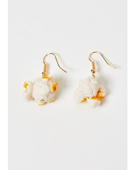 Movie Snack Popcorn Earrings
