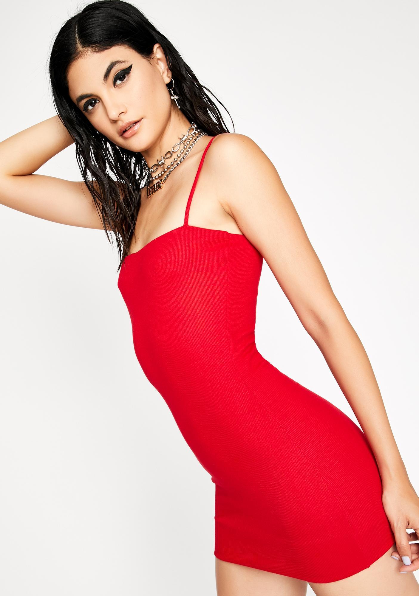 Hott It Girl Mini Tank Dress