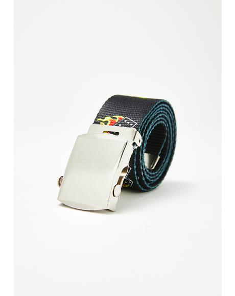 Smoking Dice Canvas Belt