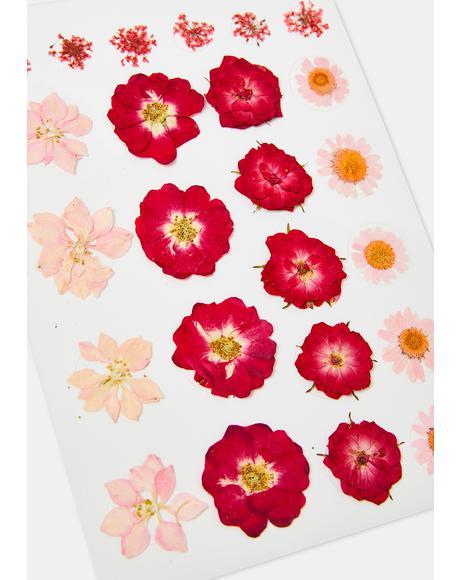 Red & Pink Flower Body Sticker Set