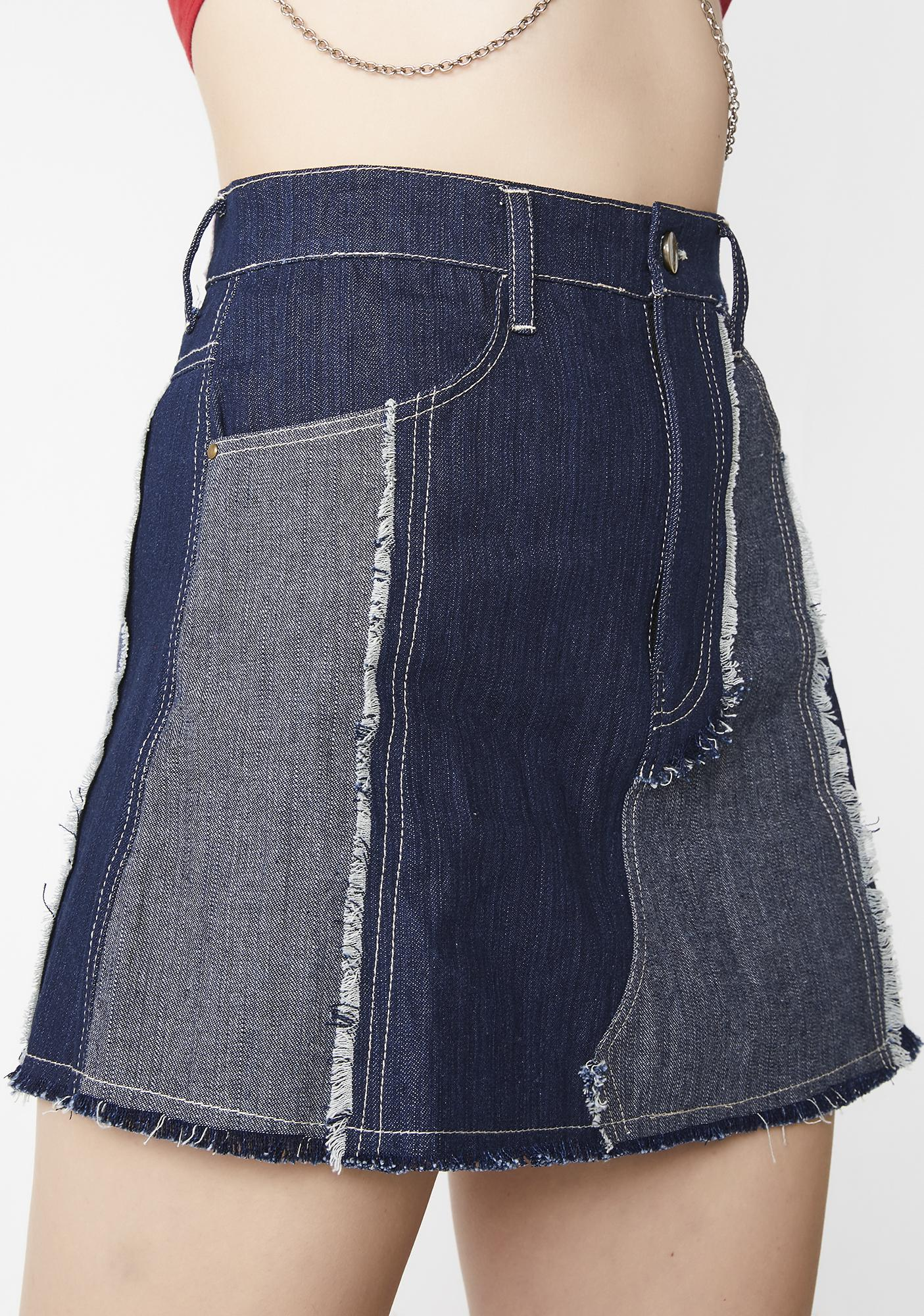 Cute Mistake Elisha Denim Skirt