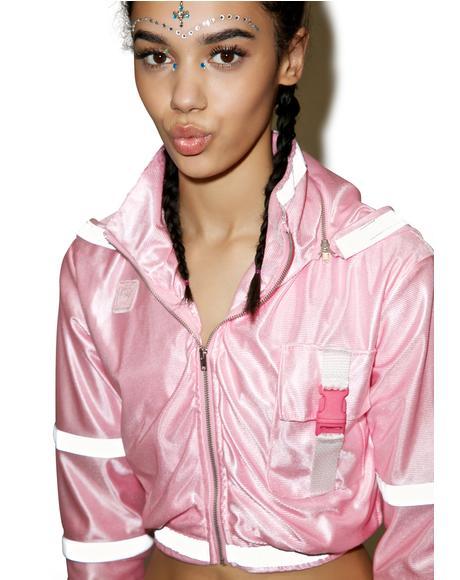 Pynk Treq Reflective Jacket