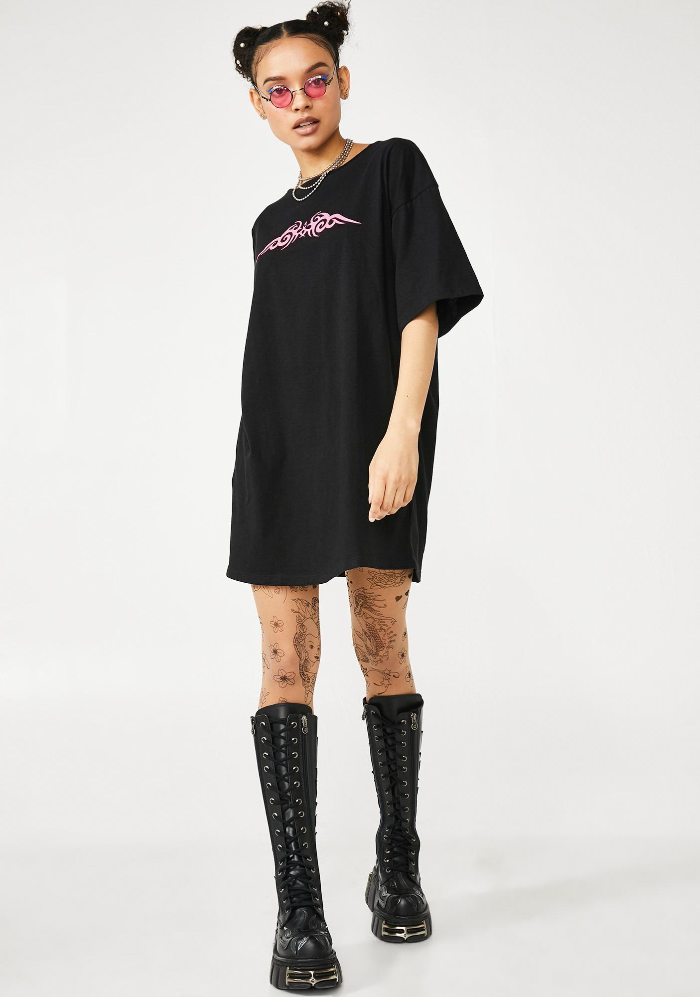 Motel Candy Tribal Sunny Kiss Tee Dress