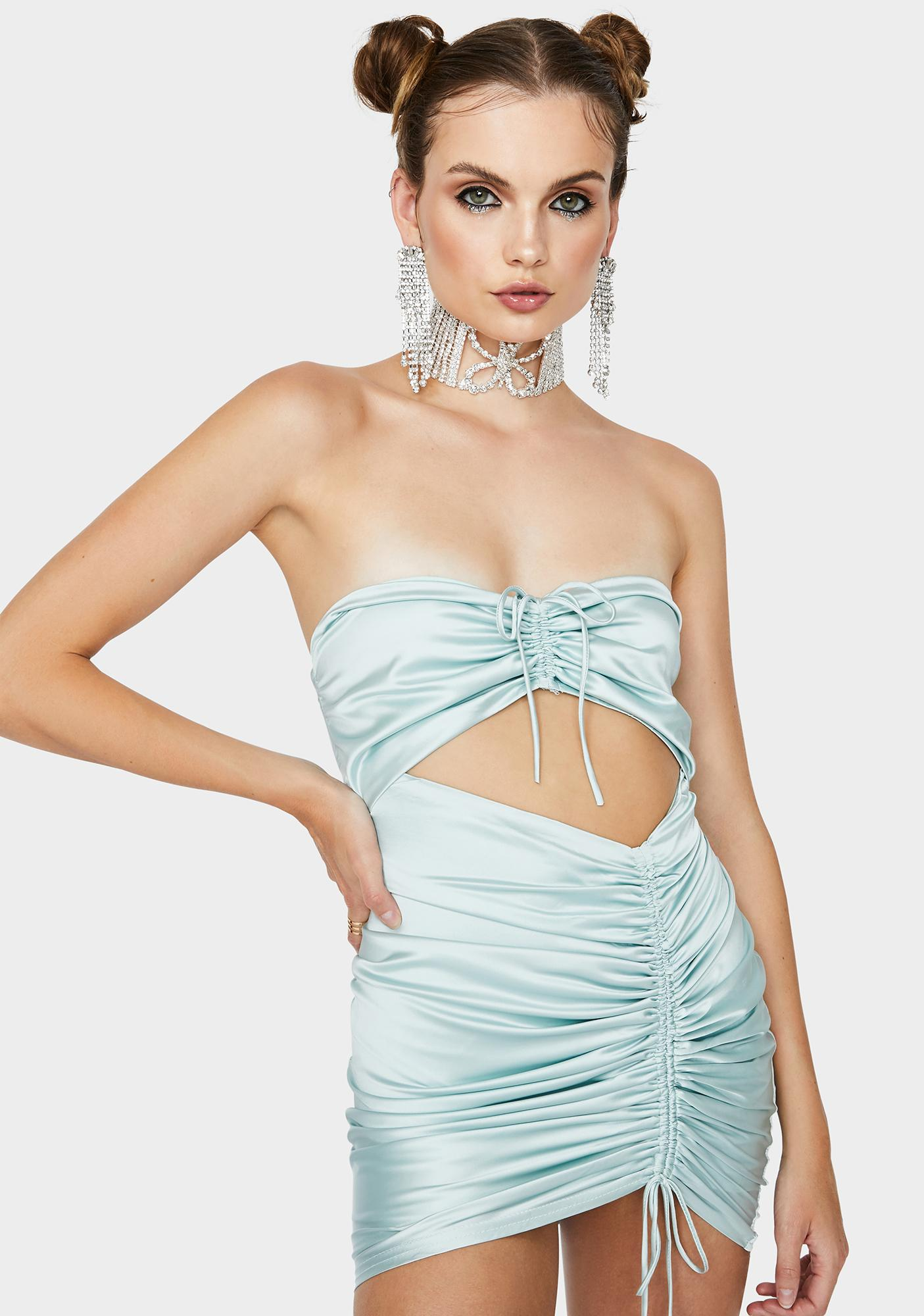 Serving Sass Satin Dress