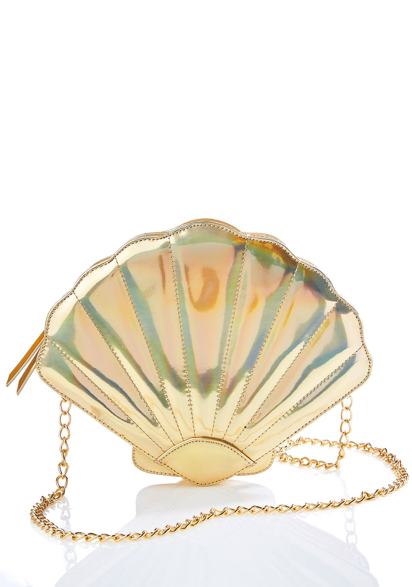 Nila Anthony Gilded Seashell Bag