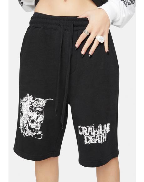 Parasite Skull Shorts