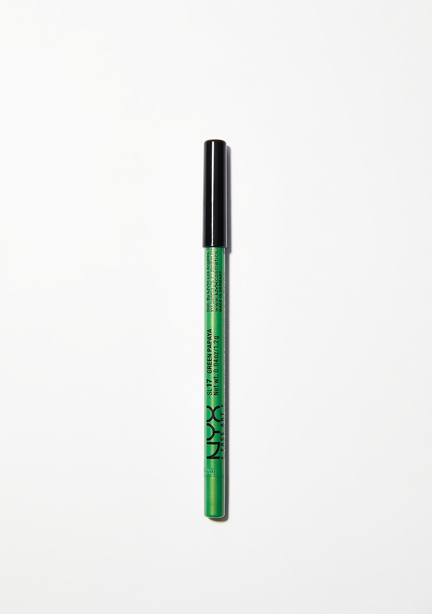 NYX Green Papaya Slide On Liner