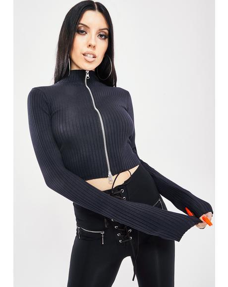 Double Zip Knit Top