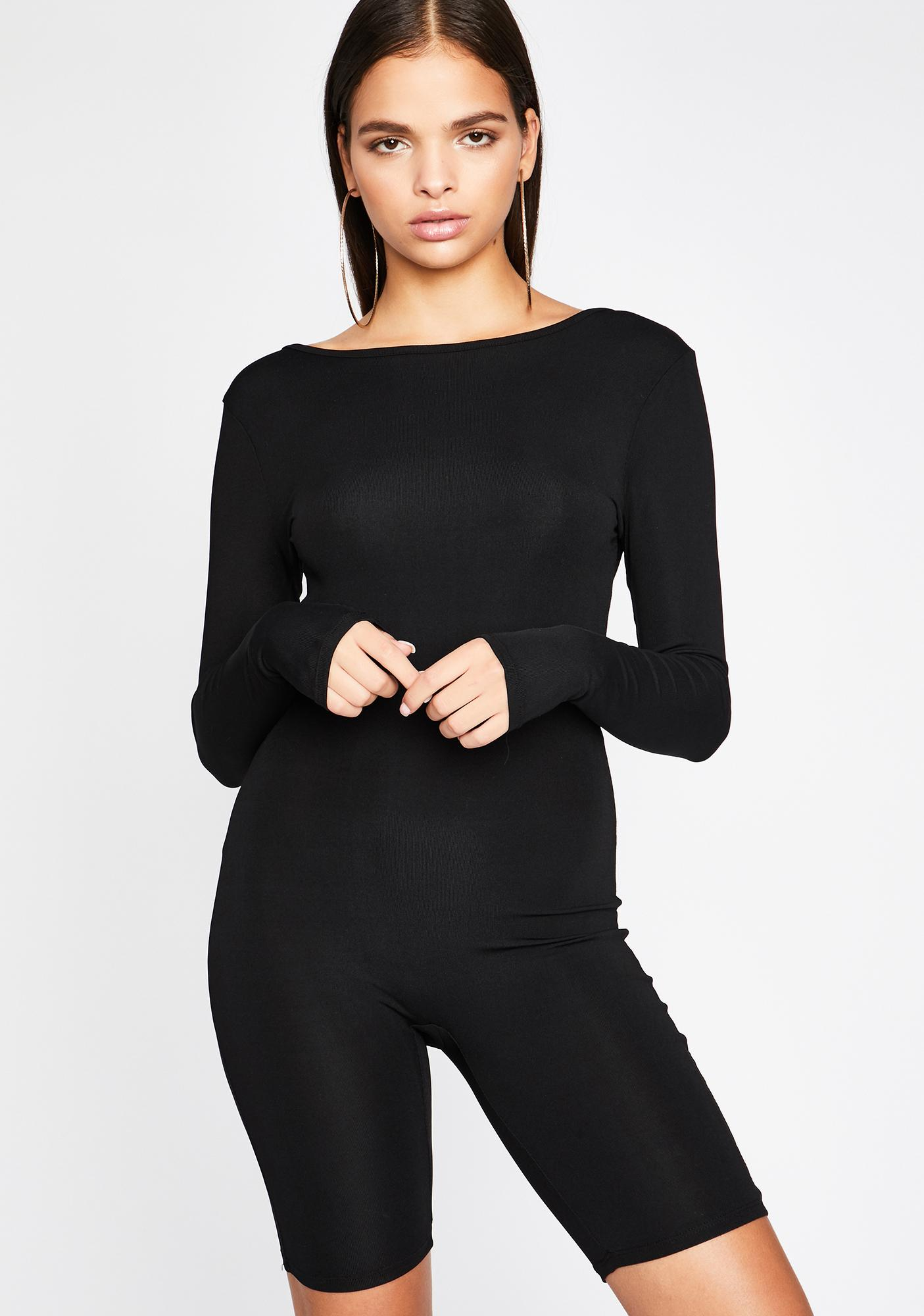 Fit For The Job Long Sleeve Romper