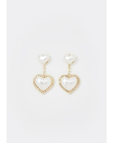 Iced Angelic Affairs Heart Earrings