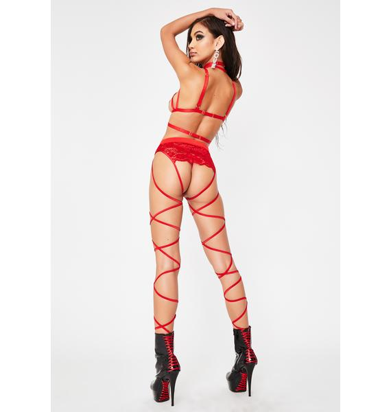 Hot Naughty Instincts Lace Up Panties