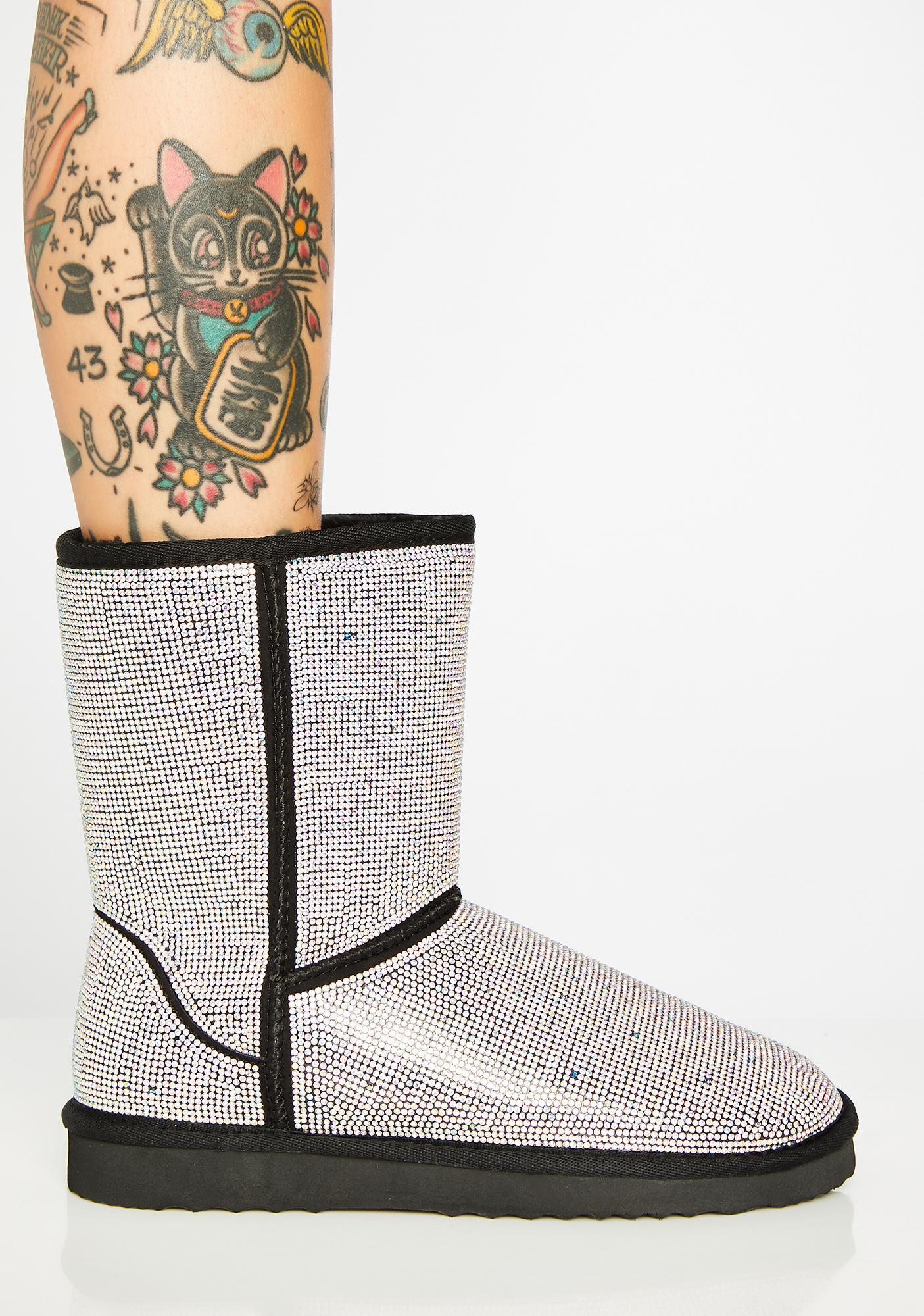 Number One Stunna Rhinestone Boots