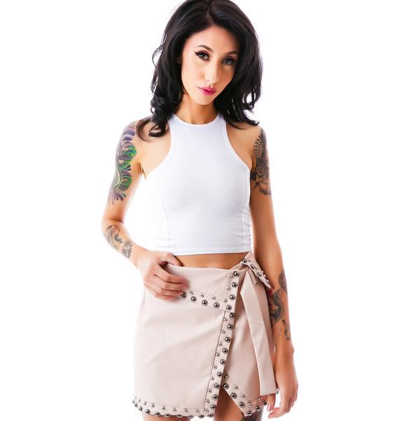 Reckless Runaway Studded Skirt