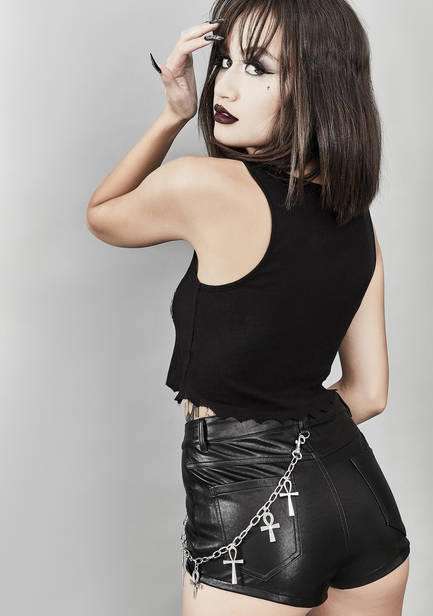 Widow Secret Afterlife Vegan Leather Shorts