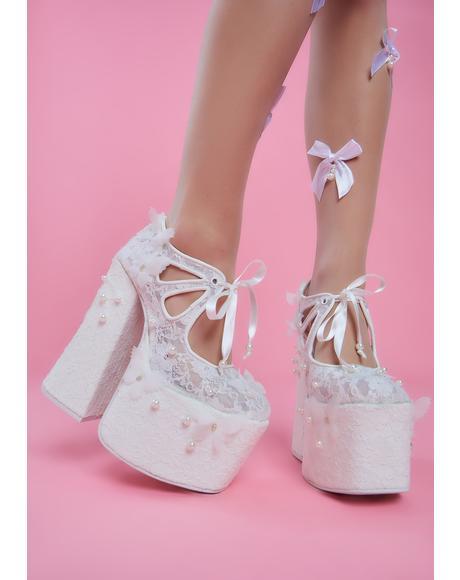 Metronome Lace Platform Heels