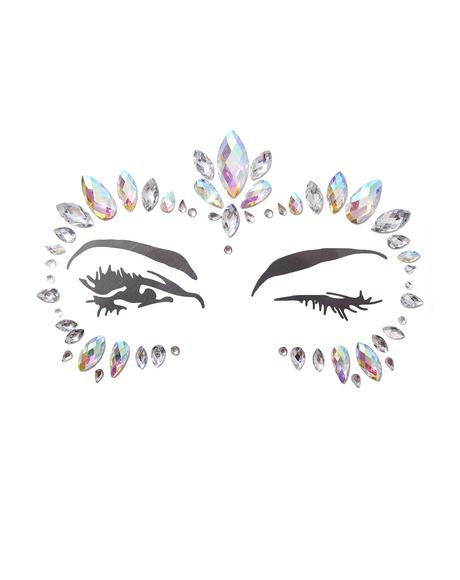 Iridescent Diamond Face Jewels