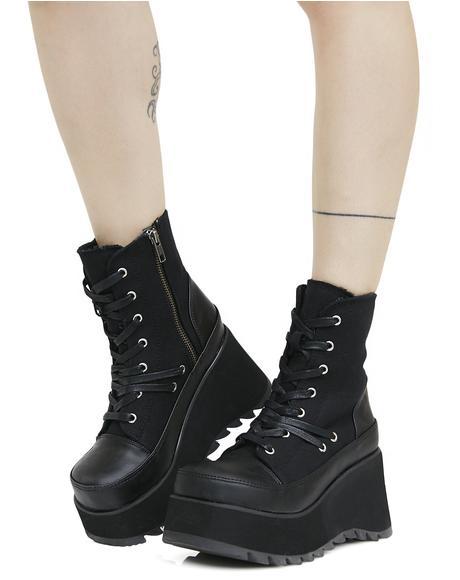 Scene Lace-Up Platform Boots