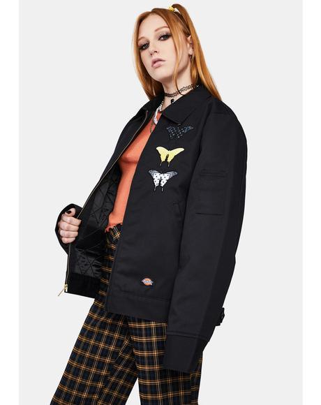 Bandana Butterfly Eisenhower Bomber Jacket