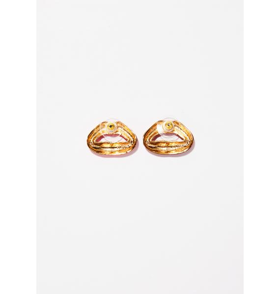 Dirty Talk Stud Earrings