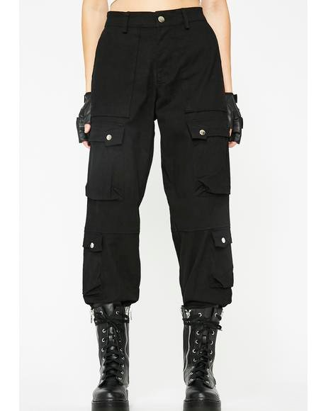 Dark Private Life Cargo Pants