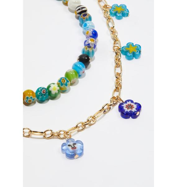 Va-Va-Violet Beaded Necklace