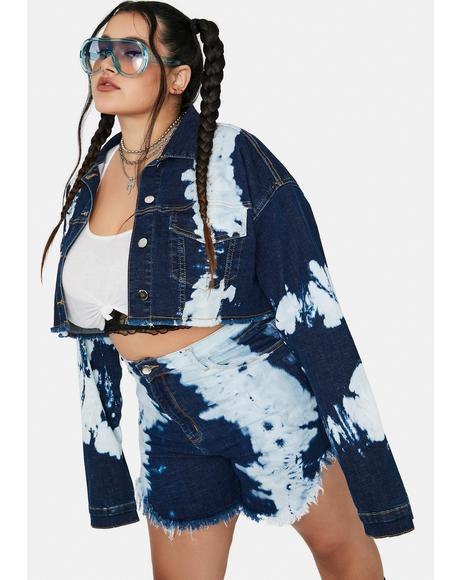 Gotta Get Inspired Tie Dye Cropped Jacket
