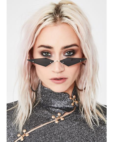 Midnight Modern Rockstar Triangle Sunglasses