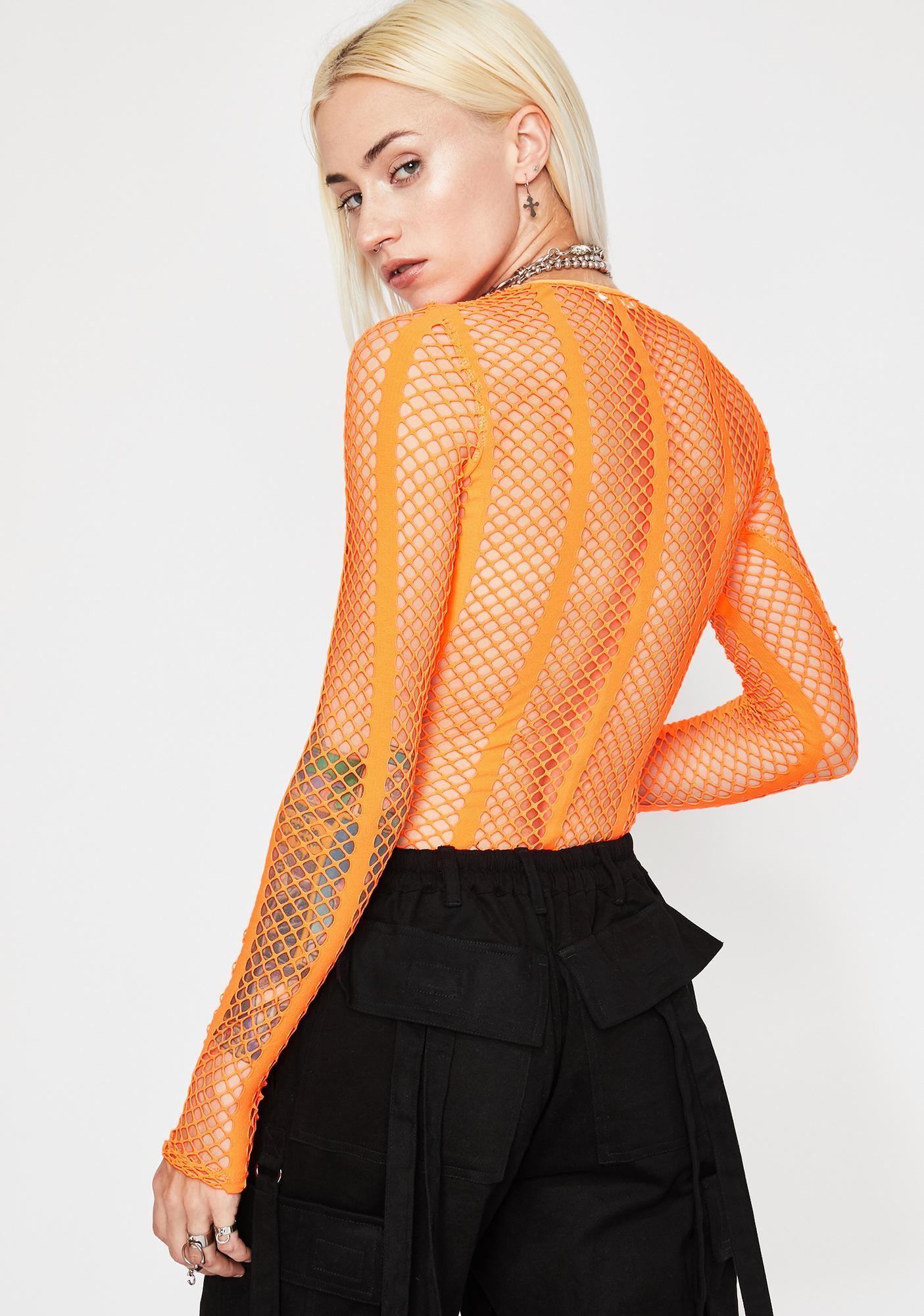 Bitter Neon Emotionz Fishnet Bodysuit
