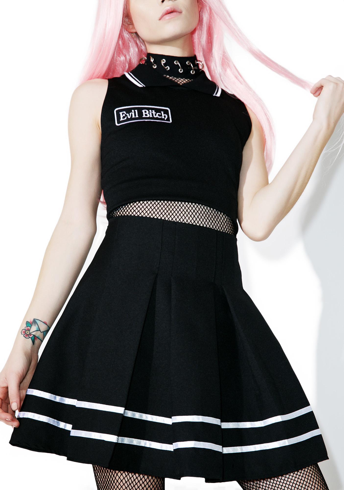 Evil Bitch Varsity Skirt