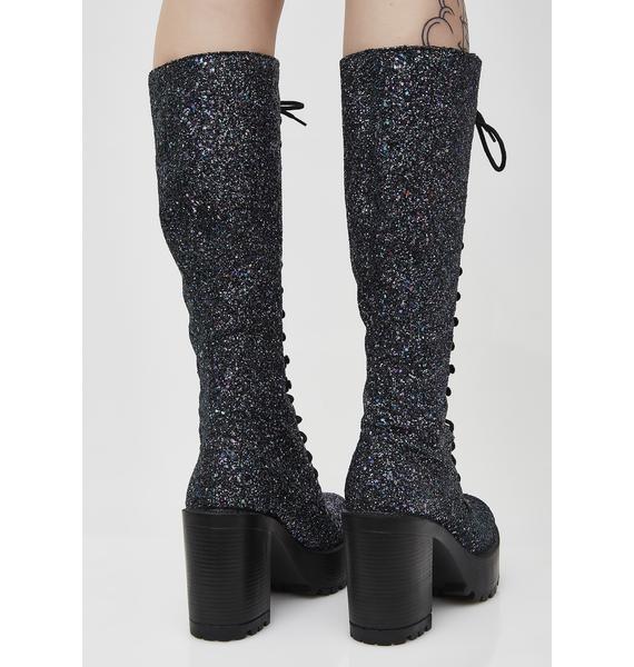ROC Boots Midnight Glitter Lash Boots