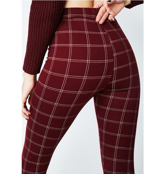Mall Monitor Plaid Pants