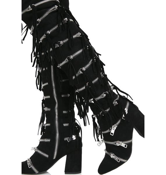 Current Mood Onyx Zip Boots