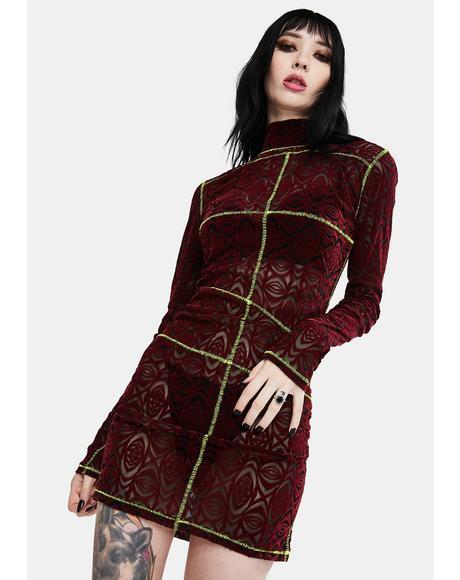 Psyber Gothic Mini Dress