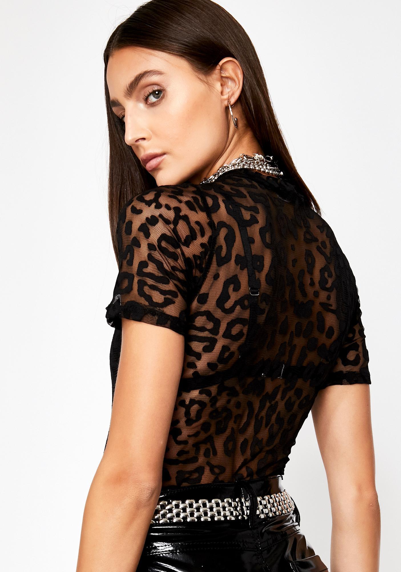 Risque Realness Leopard Bodysuit