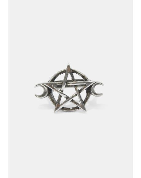 Goddess Pentagram Ring