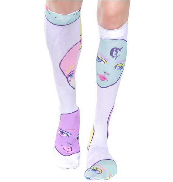 Coveted Society MAMA! Dolls Sheer Socks