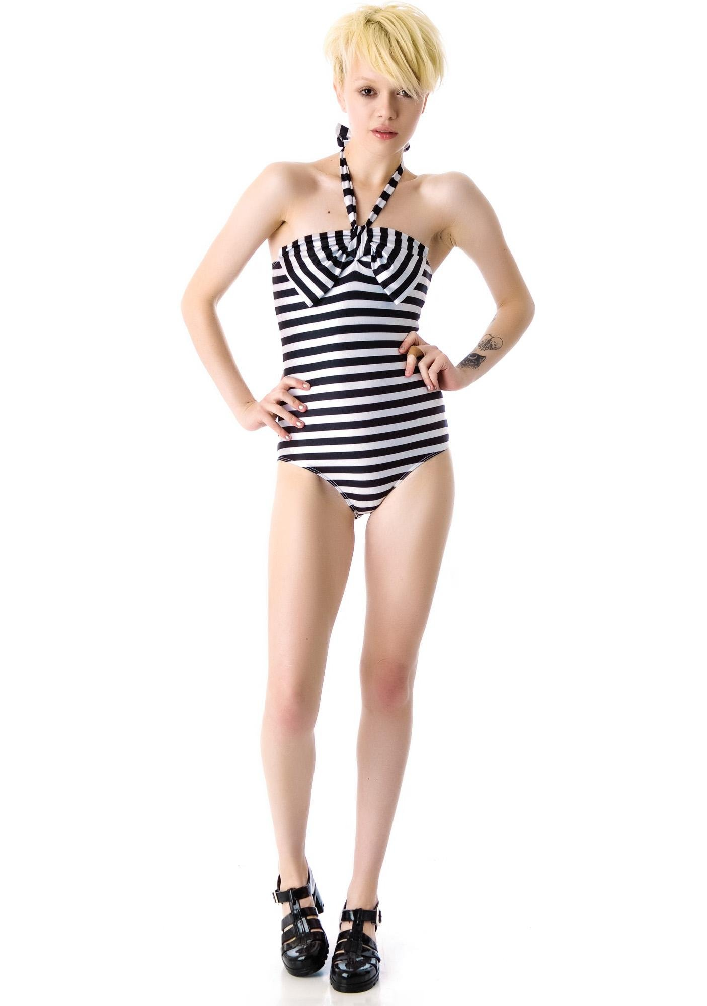 Lolli Swim All Apologies Bow One Piece