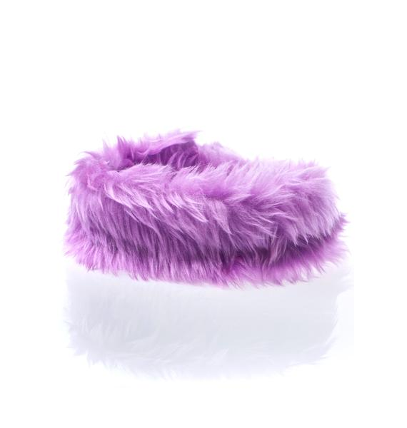 Pht Furry Royal Luvv Fuzzy Choker
