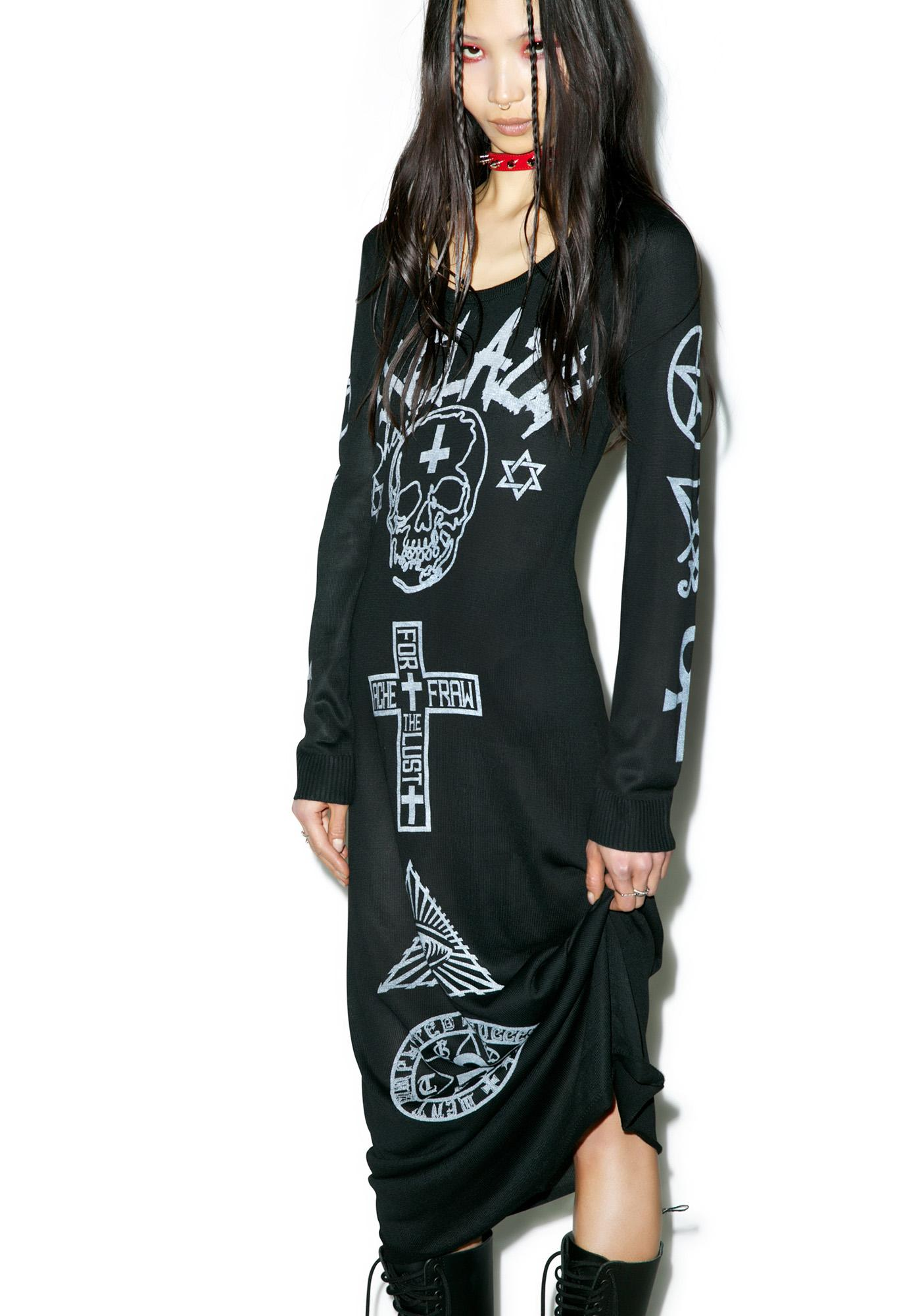 Ghostin' Symbolic Maxi Dress