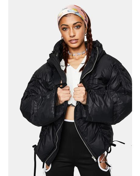 Pull Up Puffer Jacket